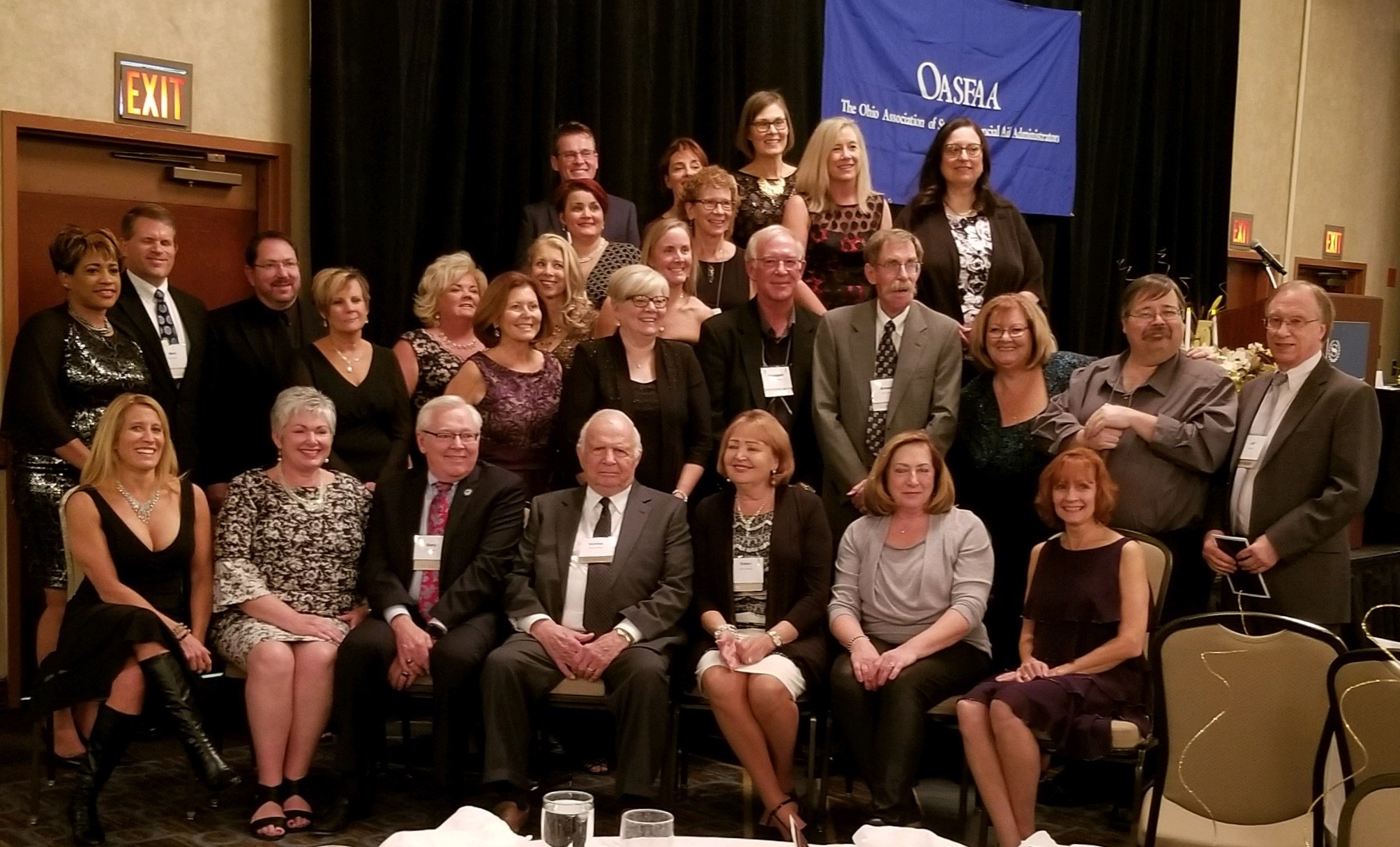 OASFAA's Past Presidents in attendance at the 50th Anniversary Conference, October 2018